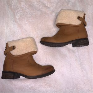 Ugg Leather Warm Sheepskin lined Winter Boots